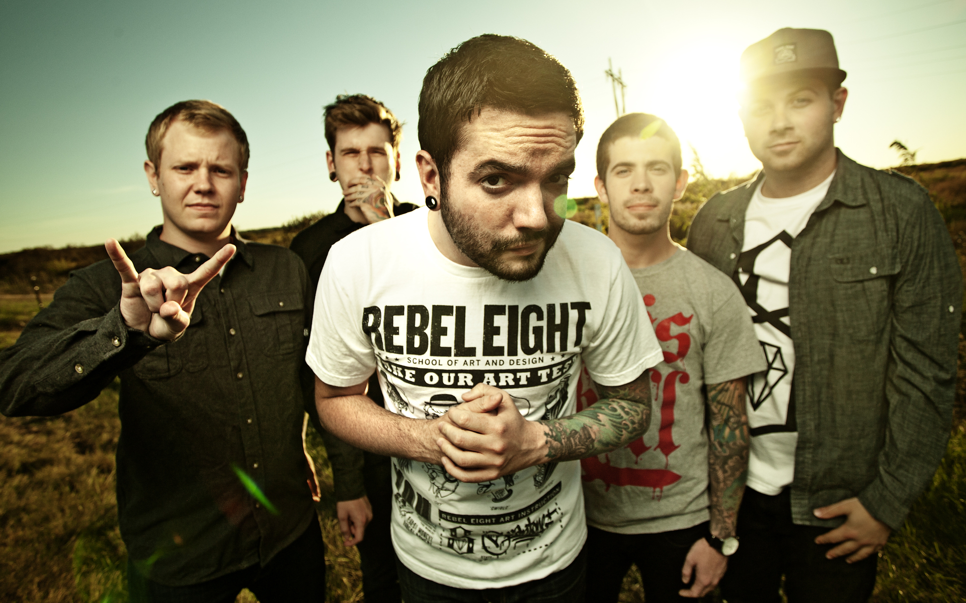 a day to remember, музыка, группа, поле